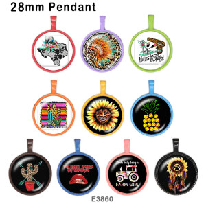 10 pcs/lot produits d'impression d'image en verre de cactus de tournesol de différentes tailles cabochon d'aimant de réfrigérateur
