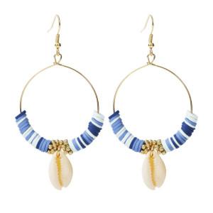 Boucles d'oreilles en perles de coquillage Suebony Bijoux de boucles d'oreilles de style plage