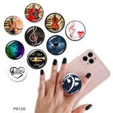 音楽携帯電話ホルダー黒または白のプリントパターンベースの塗装済み電話ソケット