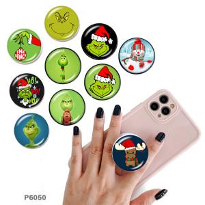 Weihnachten Der Handyhalter Lackierte Telefonsteckdosen mit schwarzem oder weißem Druckmustergrund