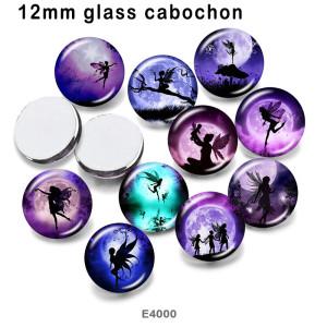 10 pcs/lot produits d'impression d'image en verre elfes de différentes tailles cabochon d'aimant de réfrigérateur