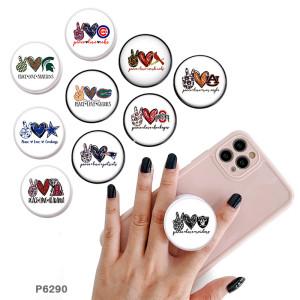 Love Team Sports Logo Der Handyhalter Lackierte Telefonbuchsen mit schwarzem oder weißem Druckmustergrund