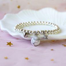 Bracelet en pierre porte-bonheur Couple Bracelet en corde élastique Cadeau d'ami