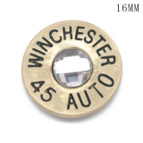 Carcasa de bala de metal de 16 MM, hoja de metal DIY WINCHESTER 45 AUTO 38 SPL