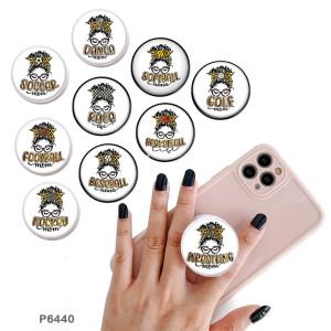 Sportball zum MuttertagDer Handyhalter Lackierte Telefonsteckdosen mit schwarzem oder weißem Druckmustergrund