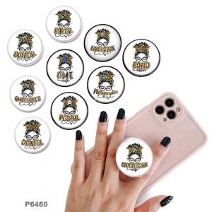 LifeThe Handyhalter Lackierte Telefonsteckdosen mit schwarzem oder weißem Druckmusterboden
