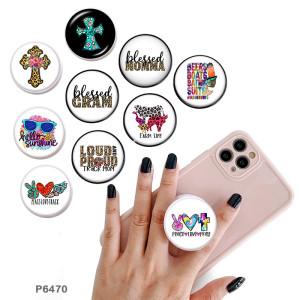 Cross Faith El soporte para teléfono móvil Tomas de teléfono pintadas con una base de patrón de impresión en blanco o negro