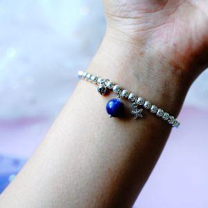 Glücksstein Armband Paar elastisches Seil Armband Freundgeschenk