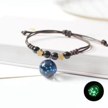 Été Lumineux Douze Constellation Bracelet Cadeau Bracelet Bijoux Tricoté À La Main