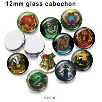 10 pcs/lot aigle lion verre image produits d'impression de différentes tailles réfrigérateur aimant cabochon
