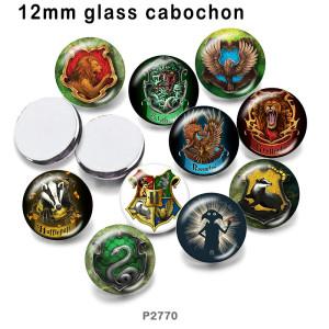 さまざまなサイズの10個/ロットイーグルライオンガラス画像印刷製品冷蔵庫マグネットカボション