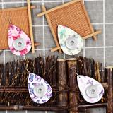 Schmetterlings-Leder-Schnappohrring passend für 20MM Schmuck im Druckknopf-Stil