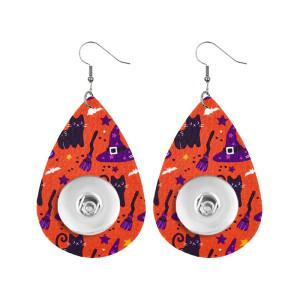 Серьги-защелки из кожи на Хэллоуин, подходящие для ювелирных изделий в стиле 20 мм