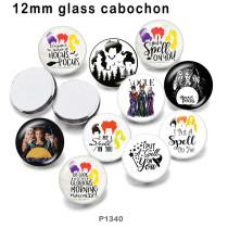 10 pcs/lot mots Vogue verre image produits d'impression de différentes tailles réfrigérateur aimant cabochon