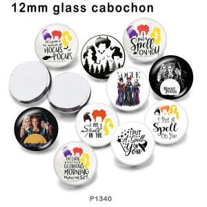 10個/ロットワードさまざまなサイズのヴォーグガラス絵印刷製品冷蔵庫用マグネットカボション