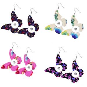 Кожаные серьги-кнопки Butterfly подходят для украшений в стиле 20 мм с защелками