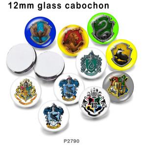 さまざまなサイズの10個/ロットパターンガラス画像印刷製品冷蔵庫用マグネットカボション