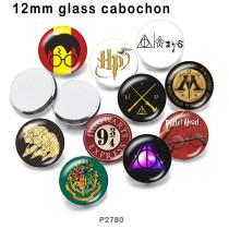 10 pcs/lot Harry Potter produits d'impression d'images en verre de différentes tailles Cabochon d'aimant de réfrigérateur