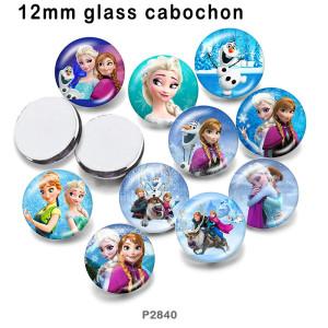 さまざまなサイズの10個/ロットプリンセスガラス画像印刷製品冷蔵庫用マグネットカボション