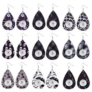 Boucle d'oreille en cuir d'Halloween pour bijoux de style 20MM
