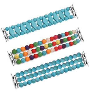 38/40MM Applicable à Apple watch apple Bracelet élastique turquoise de couleur turquoise