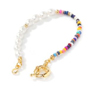 Bricolage perles de riz perle poisson ligne bracelet personnalité bijoux simples