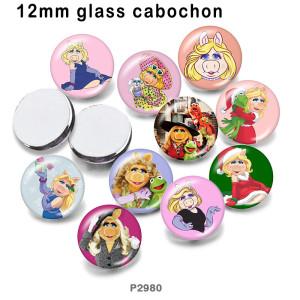 10pcs / lot hristmas Prinzessin Glasbilddruckprodukte in verschiedenen Größen Kühlschrankmagnet Cabochon