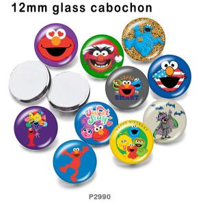 10pcs / lot Super Smart Cartoon Glasbilddruckprodukte in verschiedenen Größen Kühlschrankmagnet Cabochon