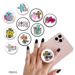 CrossThe Handyhalterung Lackierte Telefonbuchsen mit schwarzem oder weißem Druckmusterboden
