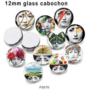 10 pcs/lot fille verre image produits d'impression de différentes tailles réfrigérateur aimant cabochon