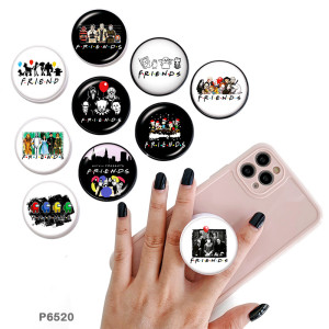 Friend Der Handyhalter Lackierte Telefonsteckdosen mit schwarzer oder weißer Druckmusterbasis