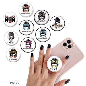 MuttertagDer Handyhalter Lackierte Telefonsteckdosen mit schwarzem oder weißem Druckmusterboden