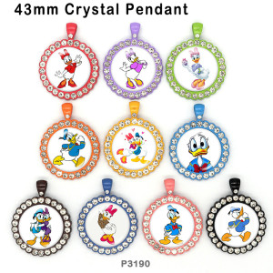 10pcs/lot  Cartoon  Donald  glass picture printing products of various sizes  Fridge magnet cabochon