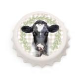 Neue 7.7 CM weiße Kronkorkenform Fotos Druck Korkenzieher / Kühlschrankmagnet