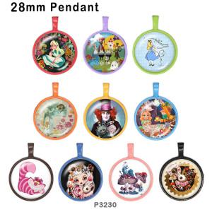 10pcs / lot Magiermädchenglasbilddruckprodukte in verschiedenen Größen Kühlschrankmagnet Cabochon