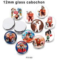 10 pcs/lot Wreckit Ralph produits d'impression d'images en verre de différentes tailles Cabochon d'aimant de réfrigérateur