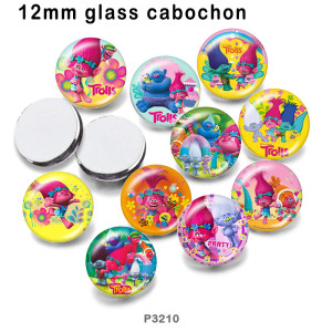 10pcs/lot   Cartoon  glass picture printing products of various sizes  Fridge magnet cabochon