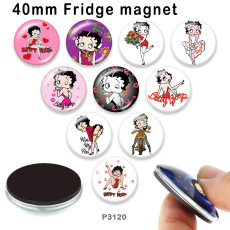 10pcs/lot  Cartoon  princess  glass picture printing products of various sizes  Fridge magnet cabochon