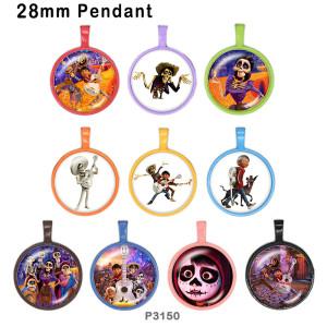 10pcs / lot Musik-Halloween-Glasbilddruckprodukte in verschiedenen Größen Kühlschrankmagnet Cabochon