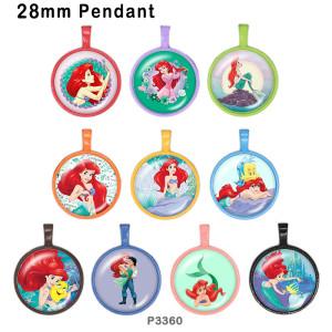 10 шт. / Лот принцесса русалка стеклянная продукция для печати изображений различных размеров магнит на холодильник кабошон