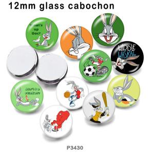 10 шт. / Лот мультфильм кролик стекло изображение полиграфическая продукция различных размеров магнит на холодильник кабошон