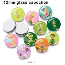 10pcs / lot Prinzessin Elfen Glasbilddruckprodukte in verschiedenen Größen Kühlschrankmagnet Cabochon