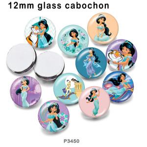 10 шт. / Лот мультфильм принцесса стекло изображение полиграфическая продукция различных размеров магнит на холодильник кабошон