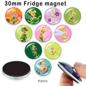 10 шт. / Лот принцесса эльфы стеклянная продукция для печати изображений различных размеров магнит на холодильник кабошон