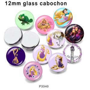 10 шт. / Лот принцесса стекло изображение полиграфическая продукция различных размеров магнит на холодильник кабошон