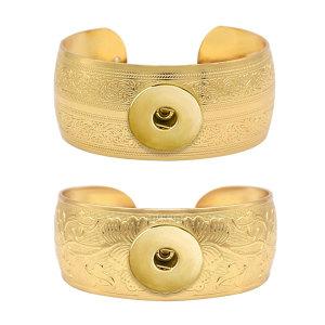 1 пуговица на кнопке Золотой браслет подходит для украшений на кнопках