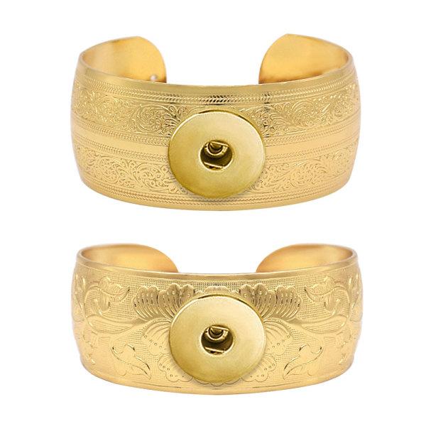 1 boutons pression Bracelet doré fit pressions bijoux