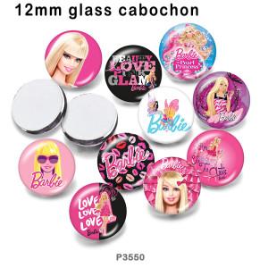 10 шт. / Лот стеклянная тележка для печати изображений различных размеров магнит на холодильник кабошон