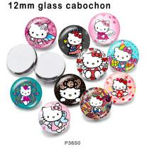 10個/ロット各種サイズの漫画ガラス絵印刷製品冷蔵庫マグネットカボション