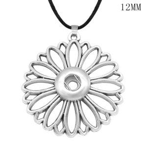 花の形のネックレスチェーン調節可能なフィット12MMチャンクスナップジュエリー